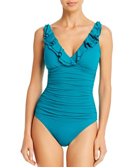 Ralph Lauren - Beach Ruffled One Piece Swimsuit