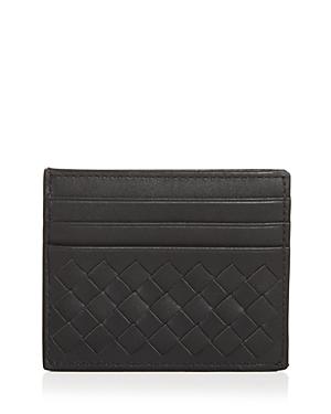 Bottega Veneta Men's Woven Leather Card Case