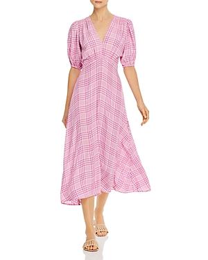 Faithfull the Brand Vittoria Plaid Midi Dress