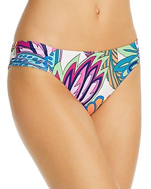 Trina Turk Paradise Plume Shirred Hipster Bikini Bottom-Women