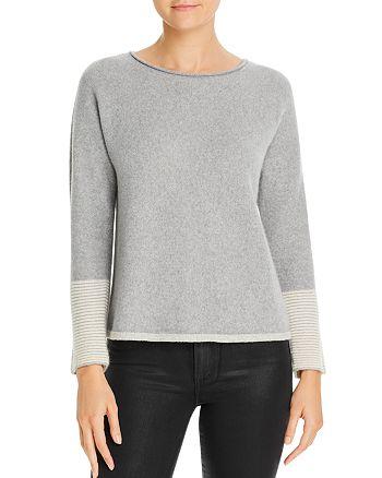 Eileen Fisher - Cashmere-Blend Stripe-Cuff Sweater
