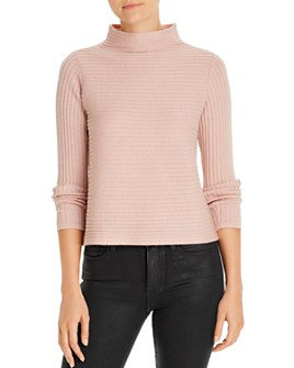 Eileen Fisher Petites - Ribbed Funnel-Neck Sweater