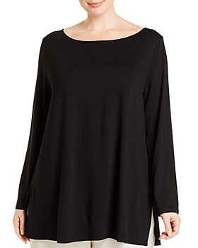 Eileen Fisher Plus - Boat Neck Tunic Top