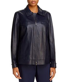 Lafayette 148 New York Plus - Destiny Leather Jacket