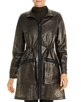 Elie Tahari - Molly Leopard-Print Rain Trench - 100% Exclusive