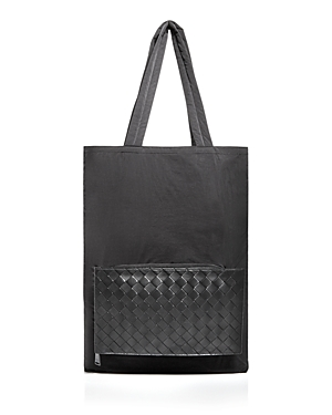 Bottega Veneta 1.5 Intrecciato Nylon & Leather Tote Bag