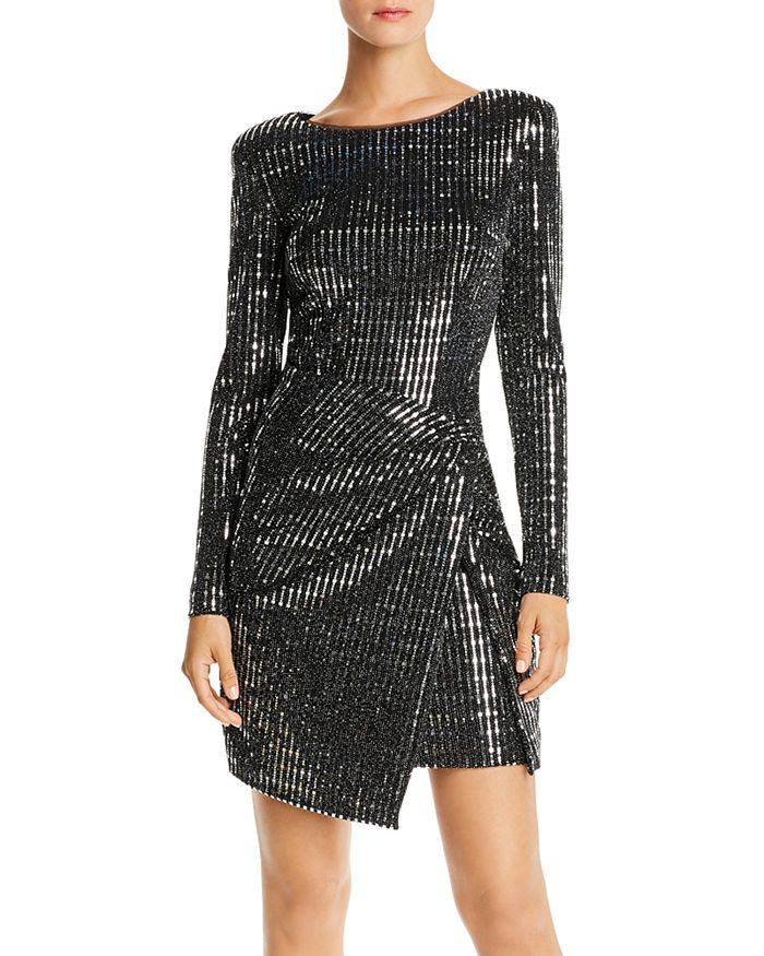 AQUA - Sequined Hologram Dress - 100 Exclusive