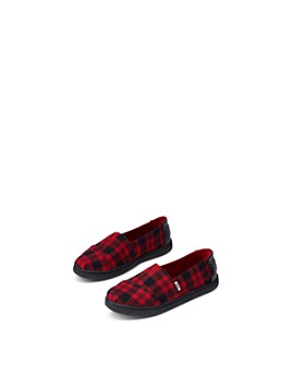 TOMS - Unisex Alpargata Plaid Flats - Toddler, Little Kid, Big Kid
