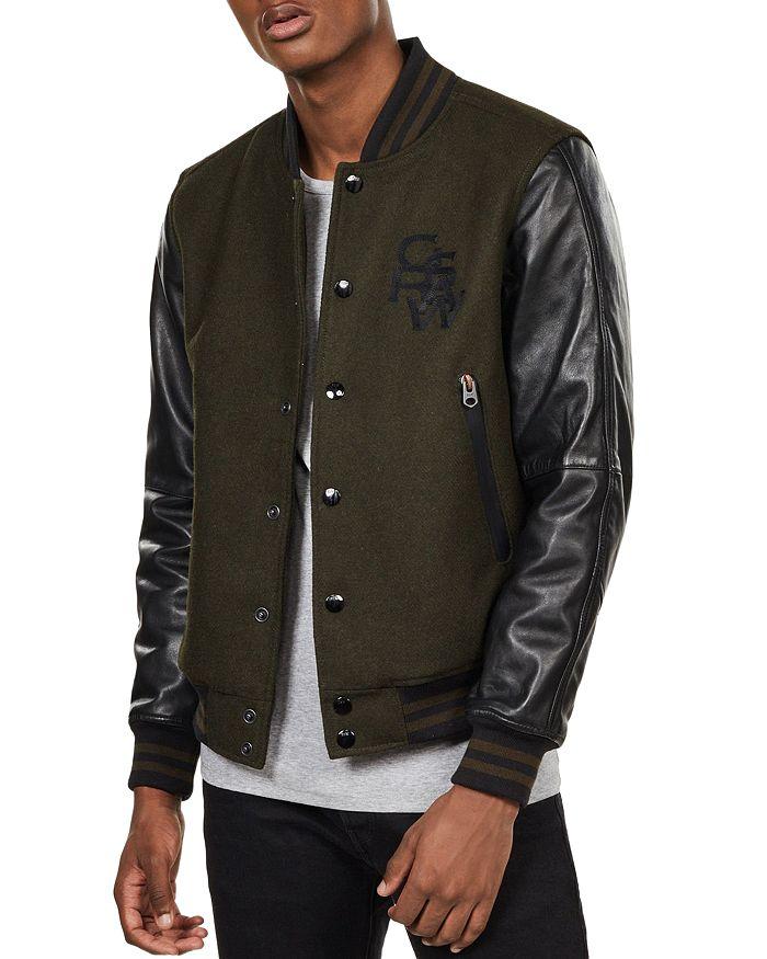 G-STAR RAW - Bolt Slim Fit Leather Bomber Jacket