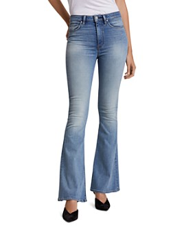 Hudson - Holly High-Rise Flare Jeans in Word Play