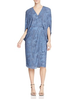 HALSTON - Draped-Sleeve Dress