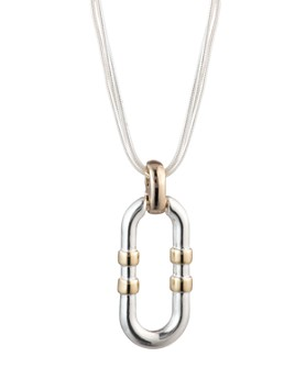 Ralph Lauren - Two-Tone Link Pendant Necklace, 16""