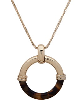 Ralph Lauren - Circle Pendant Necklace, 30""