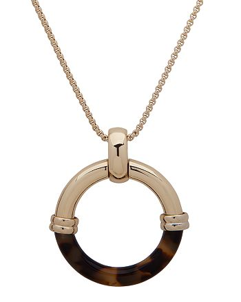 """Ralph Lauren - Circle Pendant Necklace, 30"""""""