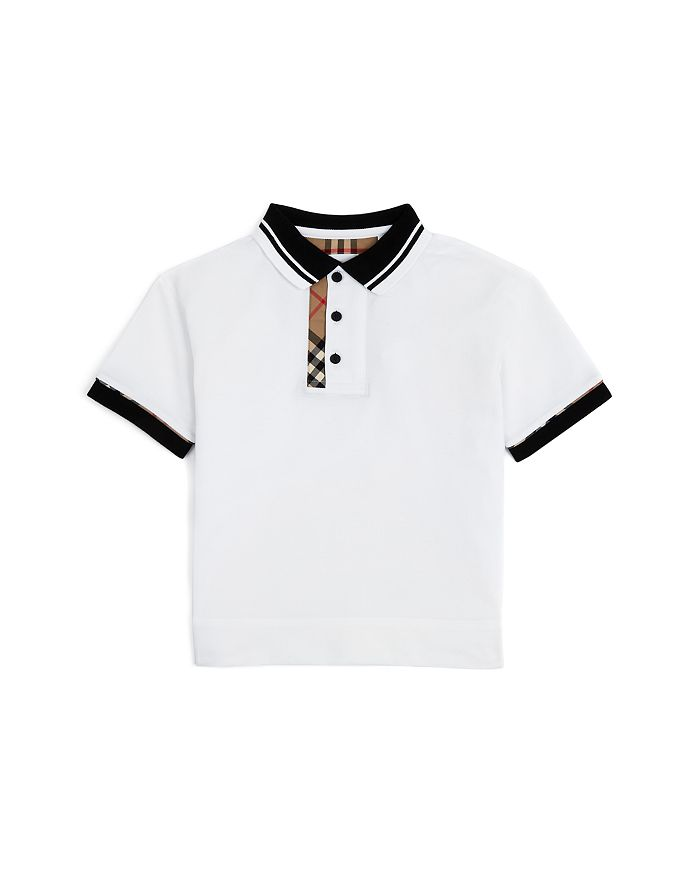 Burberry Boys' Archie Vintage Check Polo Shirt - Little Kid, Big Kid In White