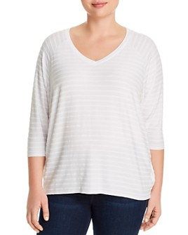 Marc New York Plus - Jacquard Stripe Top