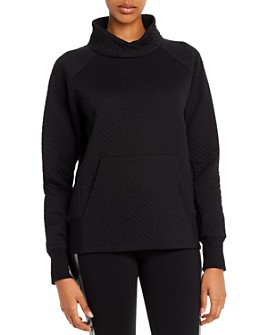 Marc New York - Quilted Funnel-Neck Sweatshirt