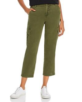 BLANKNYC - Cropped Straight-Leg Cargo Pants