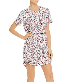 Parker - Debbie Floral Drawstring-Hem Dress