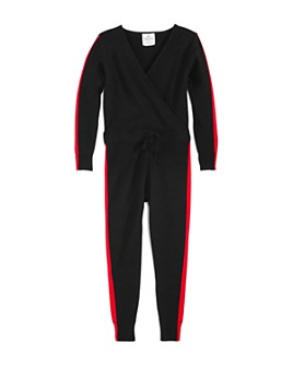 AQUA - Girls' Track Stripe Jumpsuit, Big Kid - 100% Exclusive