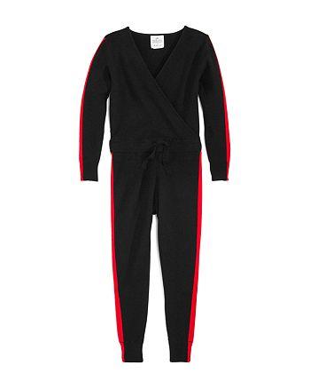 AQUA - Girls' Track Stripe Jumpsuit, Big Kid - 100% Exclusive
