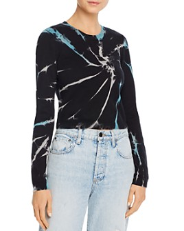 Alice and Olivia - Ciara Tie-Dye Cropped Sweater