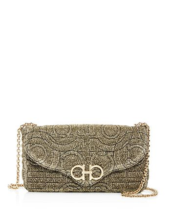 Salvatore Ferragamo - Gancini Quilted Metallic Crossbody