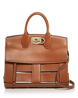 Salvatore Ferragamo - Small Caged Leather Studio Bag