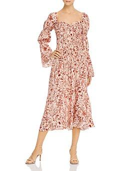 Amur - Floral Silk Midi Dress
