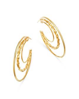 Bloomingdale's - Twisted Hoop Earrings in 14K Yellow Gold - 100% Exclusive