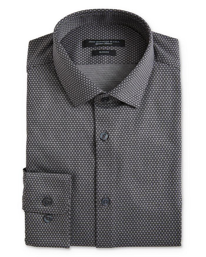 John Varvatos Star USA - Geo Pattern Jersey Slim Fit Dress Shirt