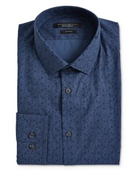 John Varvatos Star USA - Floral Print Slim Fit Dress Shirt