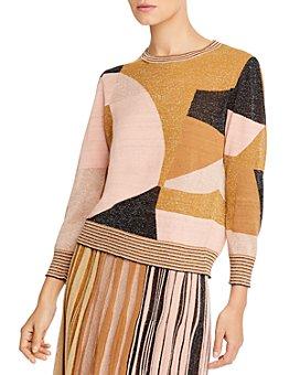 Marella - Razza Color-Blocked Metallic Sweater