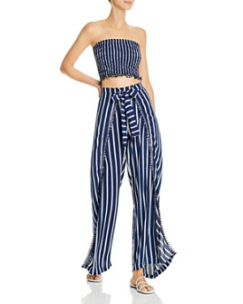 Peixoto - Joan Striped Top Swim Cover-Up & Joan Striped Swim Cover-Up Pants