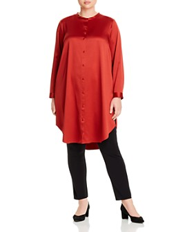 Eileen Fisher Plus - Button-Down Tunic Top