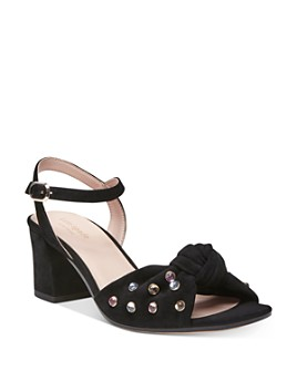 kate spade new york - Women's Emilia Crystal-Embellished Block Heel Sandals