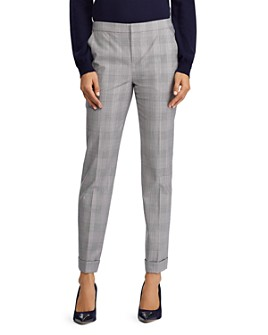Ralph Lauren - Glen Plaid Straight Leg Pants