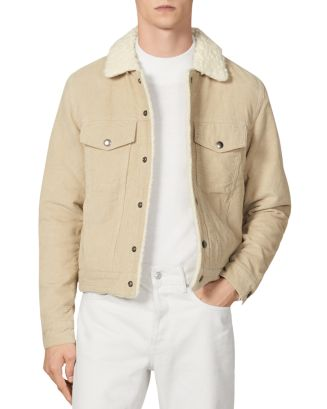 Sherpa Lined Corduroy Jacket by Sandro
