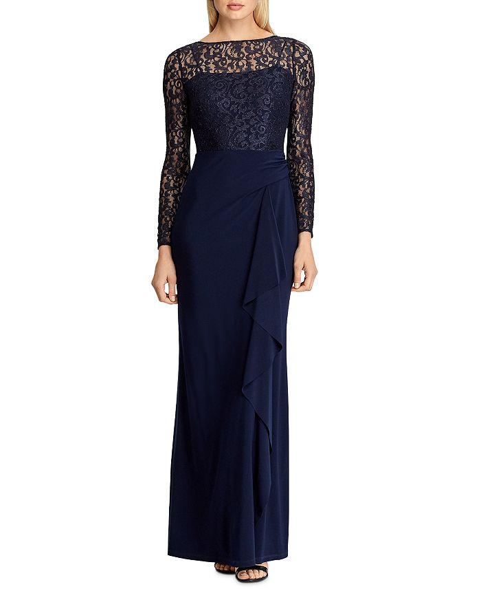 Ralph Lauren - Lace-Bodice Gown