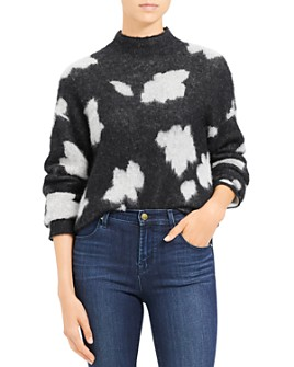 Theory - Floral-Patterned Alpaca-Blend Sweater