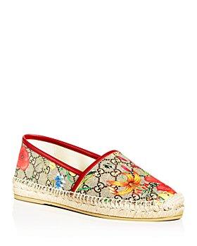 Gucci - Women's GG Supreme Floral Pilar Espadrille Flats