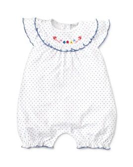 Kissy Kissy - Girls' Embroidered Polka Dot Romper - Baby