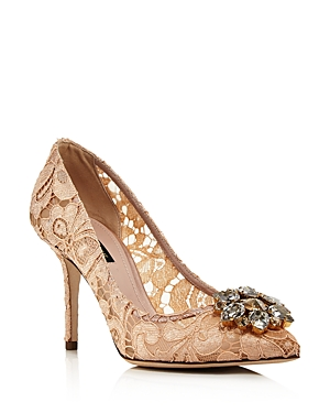 Dolce & Gabbana Women\\\'s Lace Embroidered Pumps