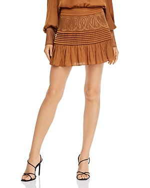 Ramy Brook Denali Embroidered Mini Skirt-Women