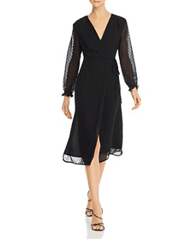 O.P.T - Tenor Embroidered Wrap Dress