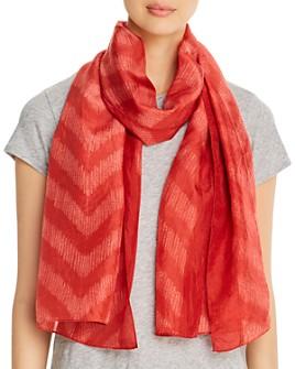 Eileen Fisher - Chevron-Stripe Silk Scarf
