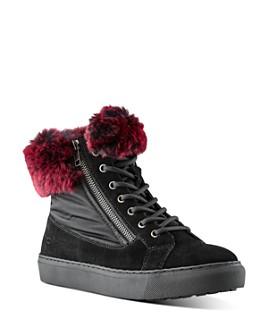 Cougar - Women's Danica Waterproof Rabbit Fur Sneakers