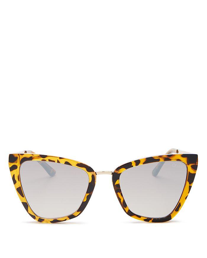 Quay - Women's Reina Mini Cat Eye Sunglasses, 55mm