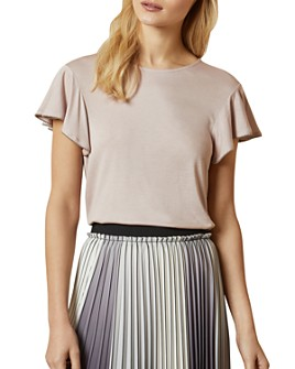 Ted Baker - Ayleez Flutter-Sleeve Top