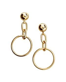 BAUBLEBAR - Rana Chain & Hoop Drop Earrings